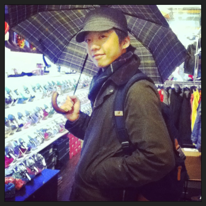 Barbour Umbrella + Barbour Jacket = a great match