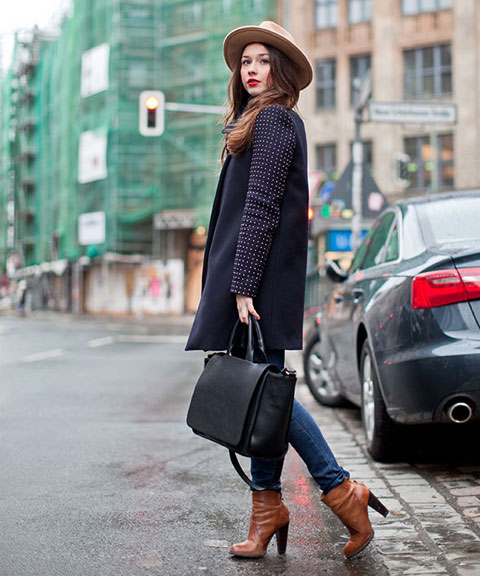 Team Amé Amé especially loves the gaucho like camel wool hat and the spotted sleeves.