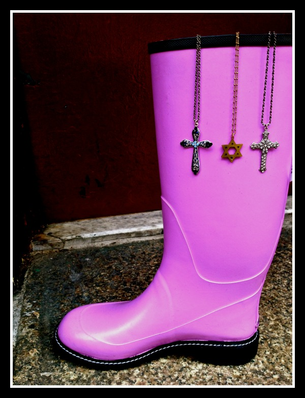 These boots are perfect for spring, and they go great with the cross necklaces. Perfect match for after Easter!