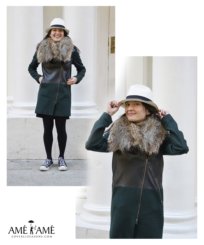 soia-and-kyo-green-jacket-fur-scarf-white-top-hat-teresa-soroka-ame-ame-nyc